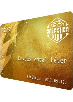 Arany klubkártya